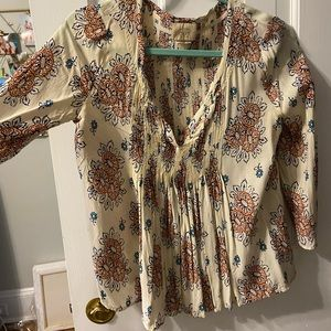 Anthropologie Floral Blouse Sz 0